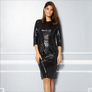 Eva Mendes for NY&Co Black Sequin Dress XS